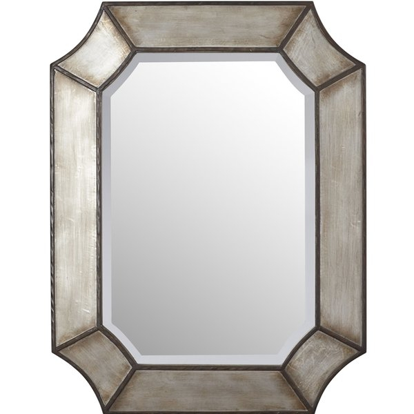 Farmhouse Mirrors | Birch Lane Inside Rectangle Pewter Beveled Wall Mirrors (#5 of 20)