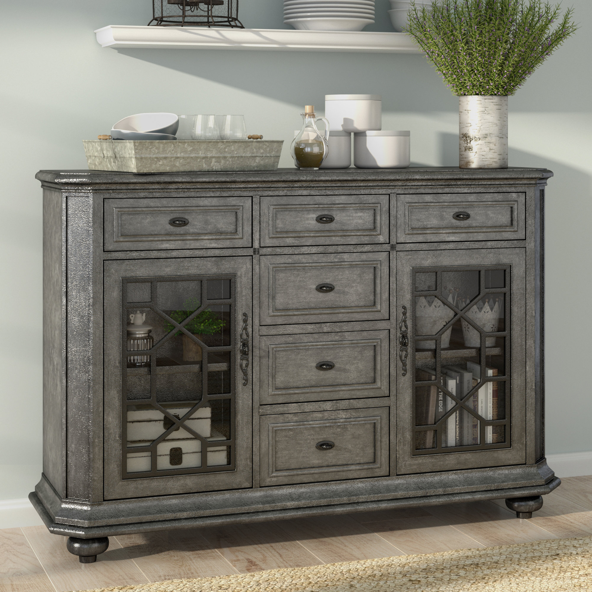 Farmhouse & Rustic Bungalow Rose Sideboards & Buffets In Best And Newest Dillen Sideboards (#5 of 20)
