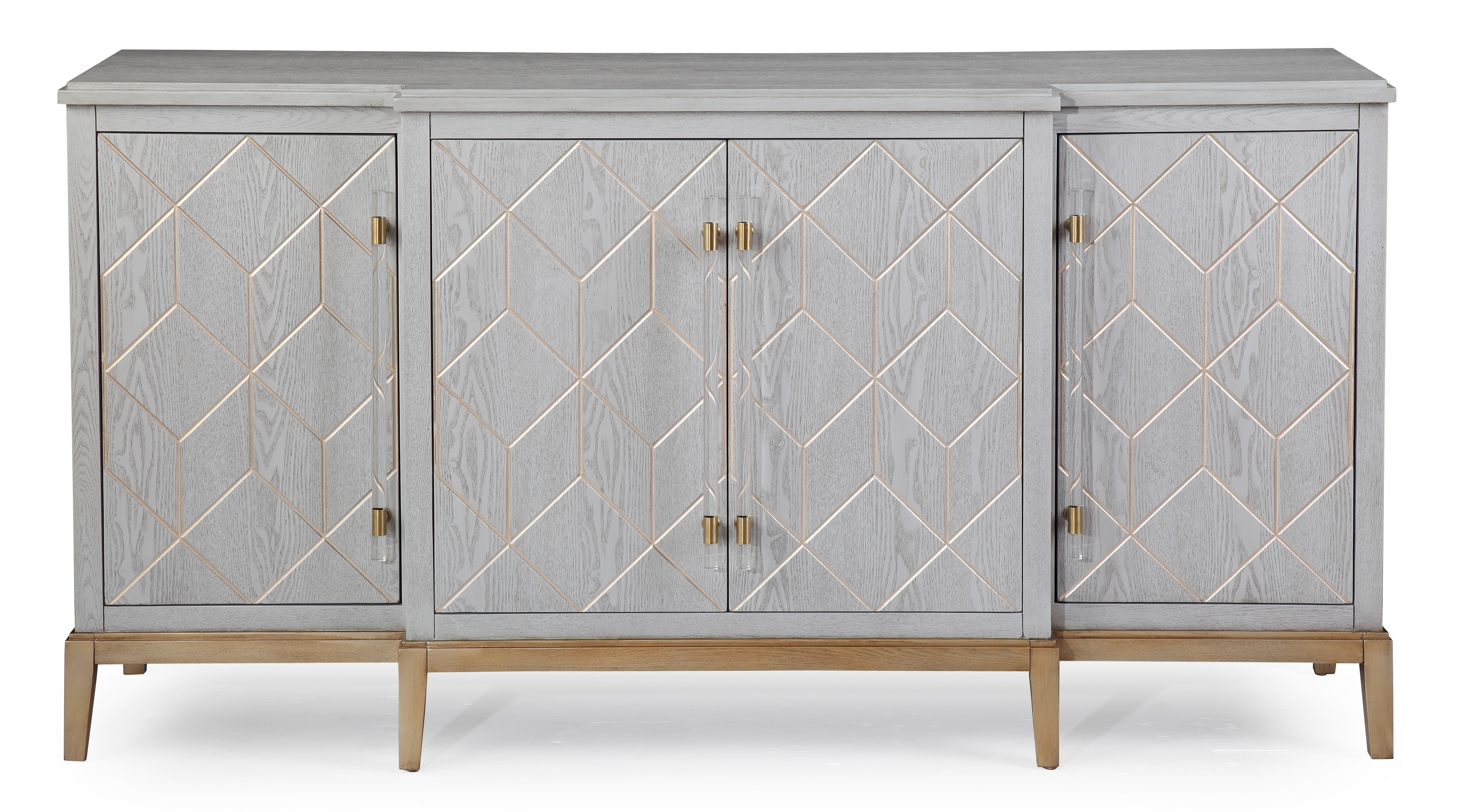 Farmhouse & Rustic Gray Wood Sideboards & Buffets | Birch Lane Within 2017 Candide Wood Credenzas (View 7 of 20)