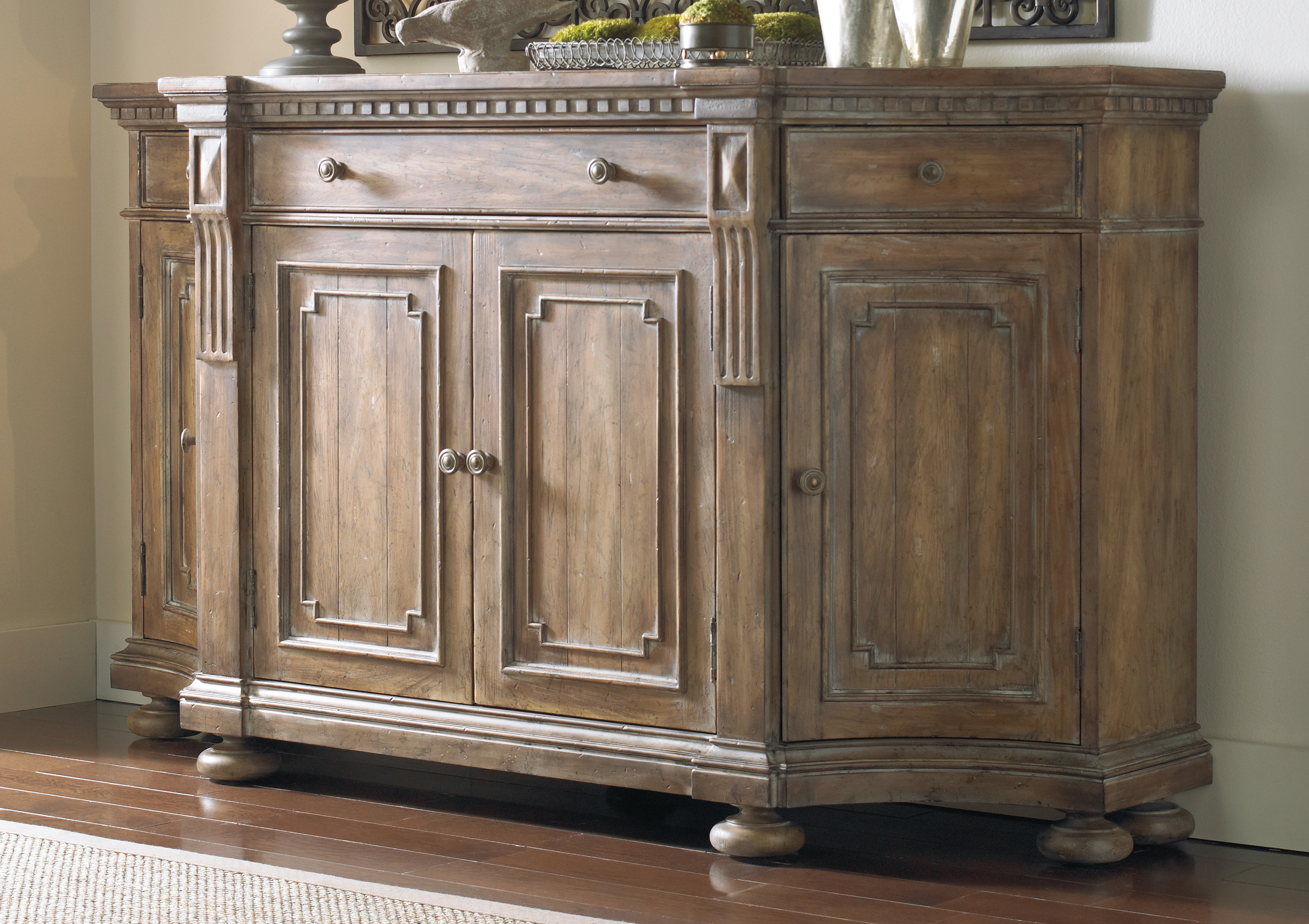 Farmhouse & Rustic Hooker Furniture Sideboards & Buffets Within Current Melange Brockton Sideboards (View 11 of 20)