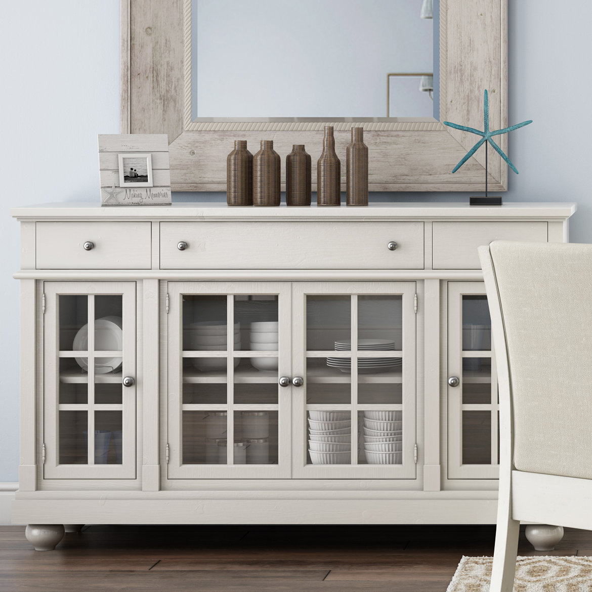 Farmhouse & Rustic Lark Manor Sideboards & Buffets | Birch Lane In Best And Newest Emmaline Sideboards (#9 of 20)