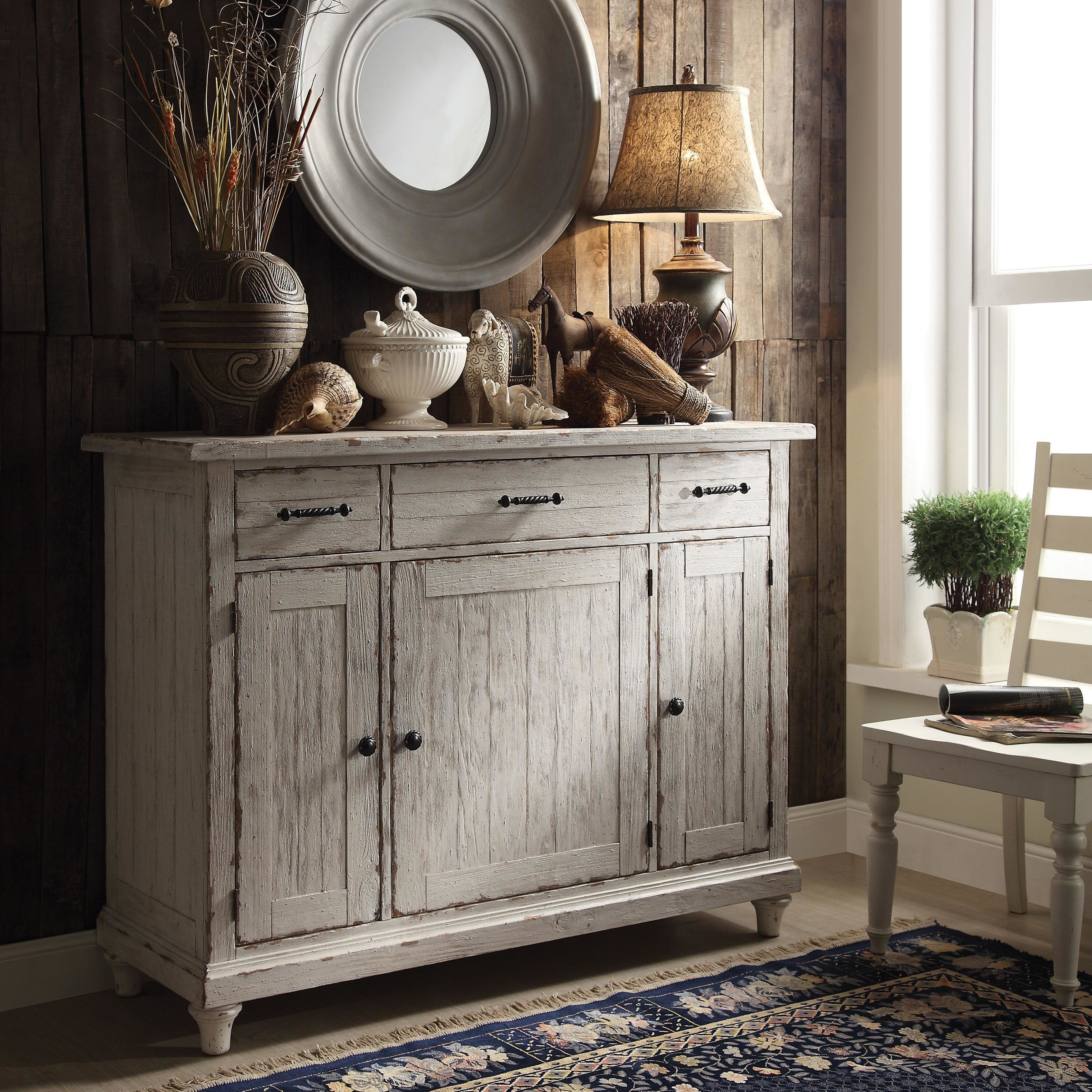 Farmhouse & Rustic Lark Manor Sideboards & Buffets | Birch Lane With Newest Ilyan Traditional Wood Sideboards (#7 of 20)