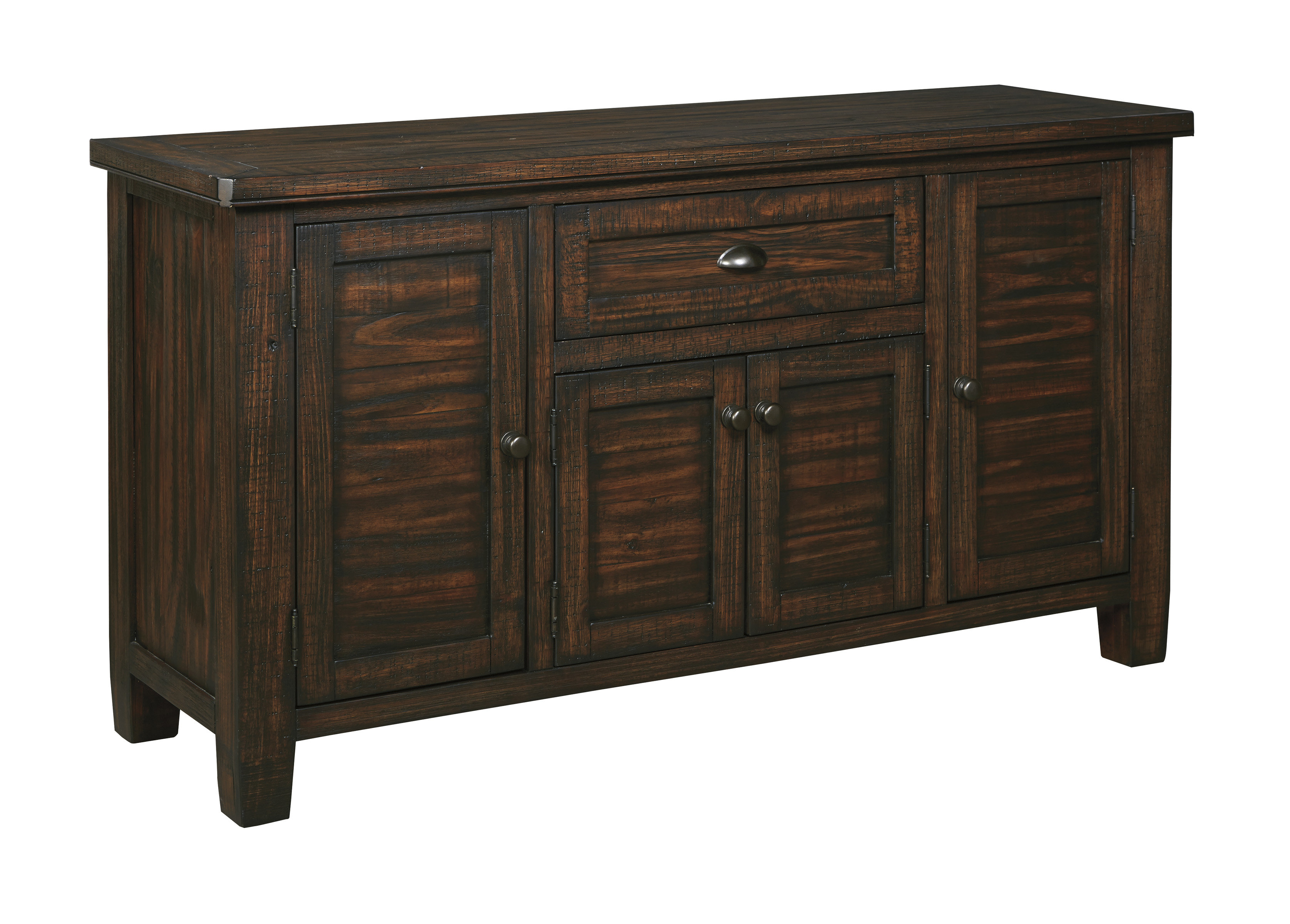 Farmhouse & Rustic Medium Brown Wood Sideboards & Buffets Throughout Most Popular Alegre Sideboards (#8 of 20)