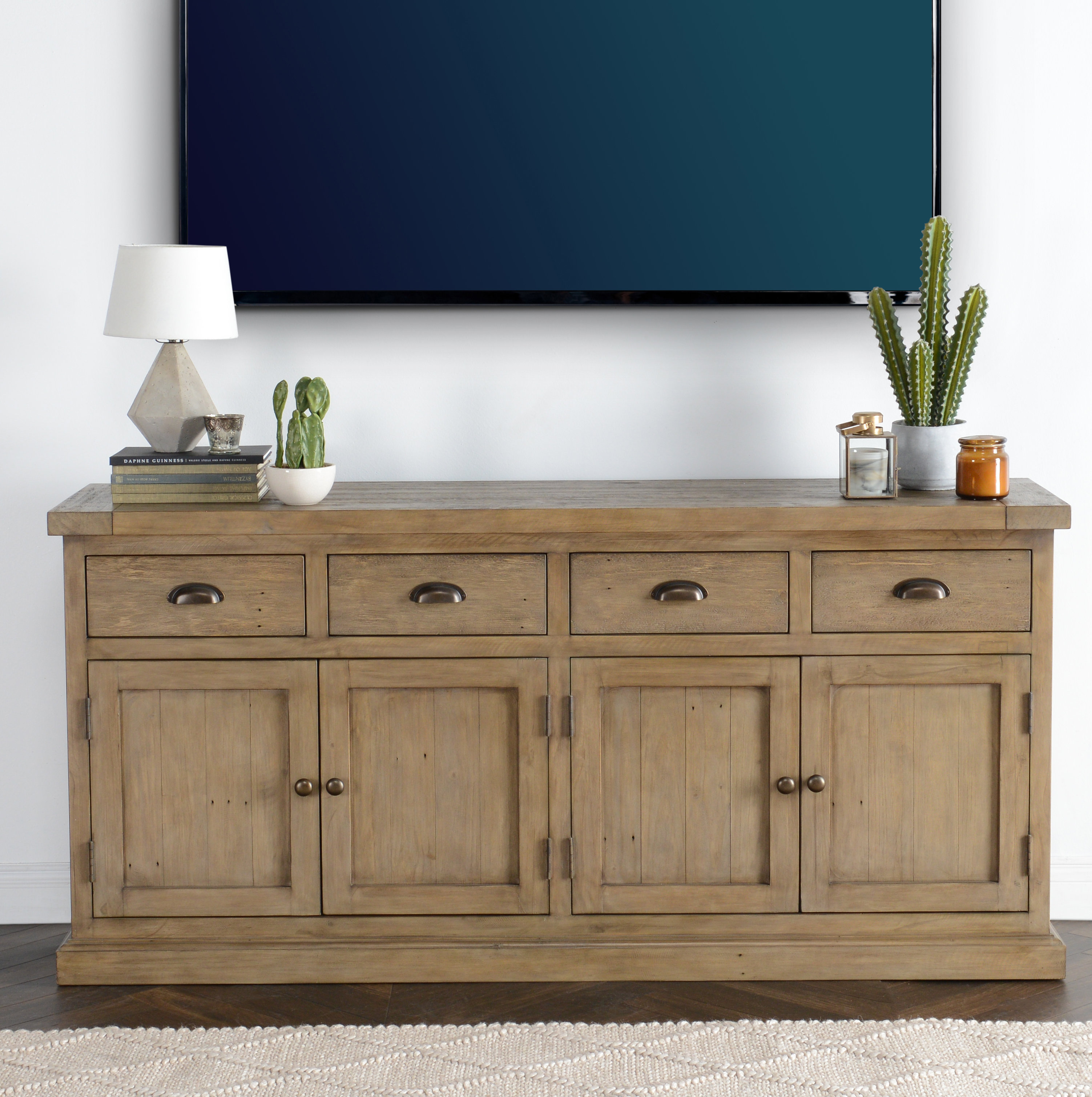 Farmhouse & Rustic Pine Sideboards & Buffets | Birch Lane With Regard To Recent Steinhatchee Reclaimed Pine 4 Door Sideboards (#11 of 20)
