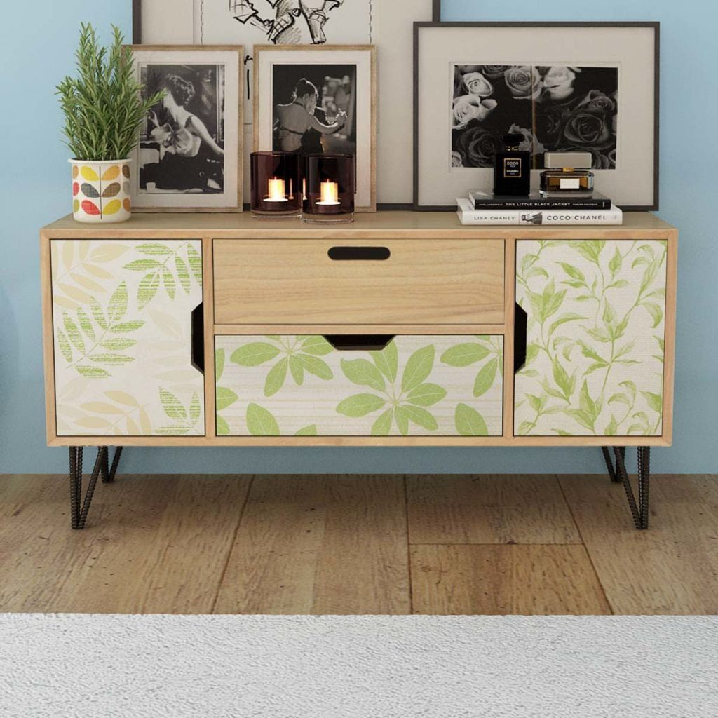 Festnight Modern Buffet Sideboard Console Table With 2 With Regard To Most Popular Emiliano Sideboards (#10 of 20)