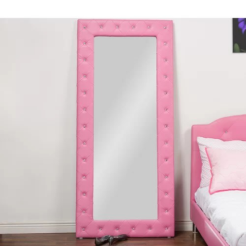 Floor Modern & Contemporary Full Length Mirror – Pink In Modern & Contemporary Full Length Mirrors (View 20 of 20)