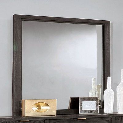 Foundry Select Avina Rectangular Dresser Mirror | Products Intended For Kristy Rectangular Beveled Vanity Mirrors In Distressed (#9 of 20)