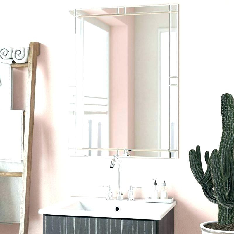Frameless Bathroom Mirror Large – Libelula Intended For Wallingford Large Frameless Wall Mirrors (#2 of 20)