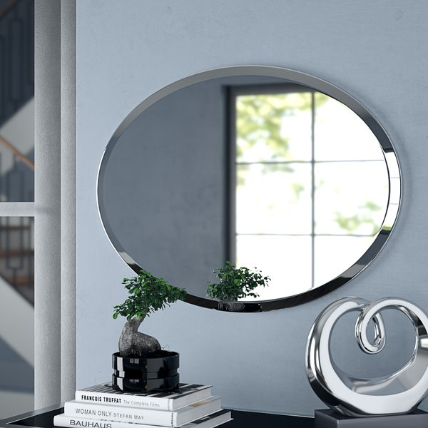 Frameless Beveled Cabinet | Wayfair Regarding Lidya Frameless Beveled Wall Mirrors (#4 of 20)