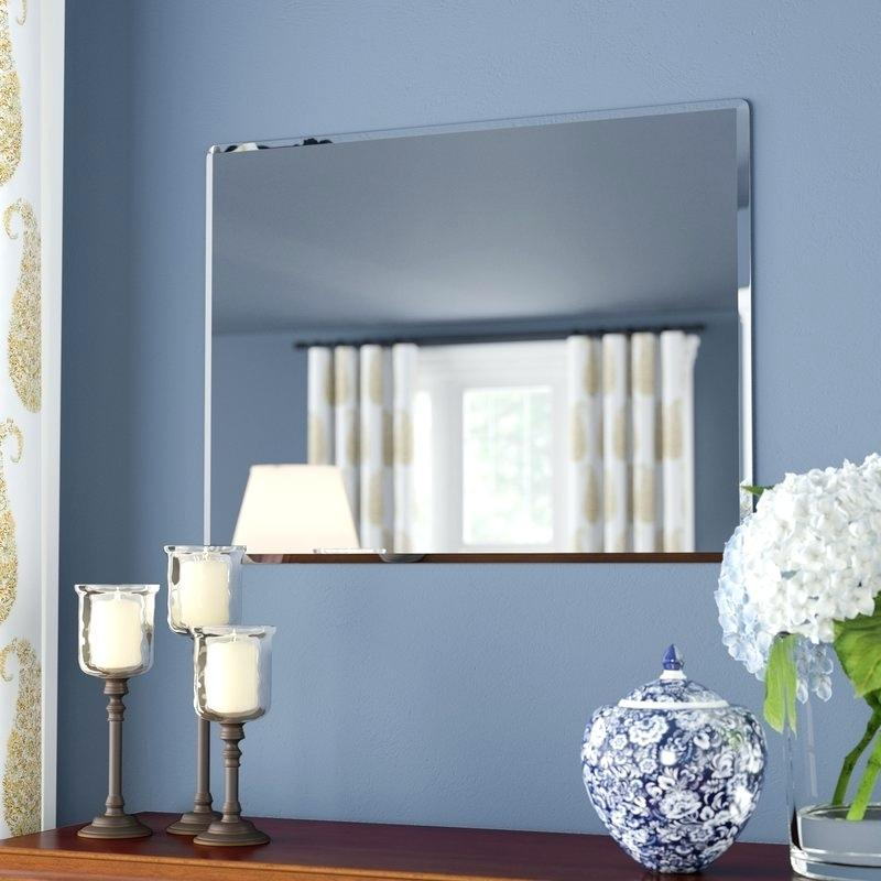 Frameless Wall Mirror – Gusdea Within Wallingford Large Frameless Wall Mirrors (#4 of 20)