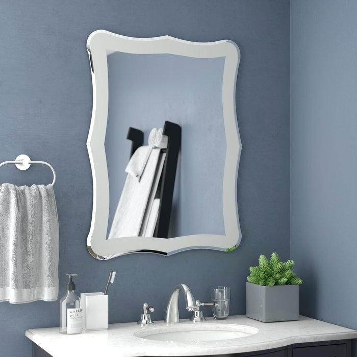 Frameless Wall Mirror – Yaekobordeau (View 9 of 20)