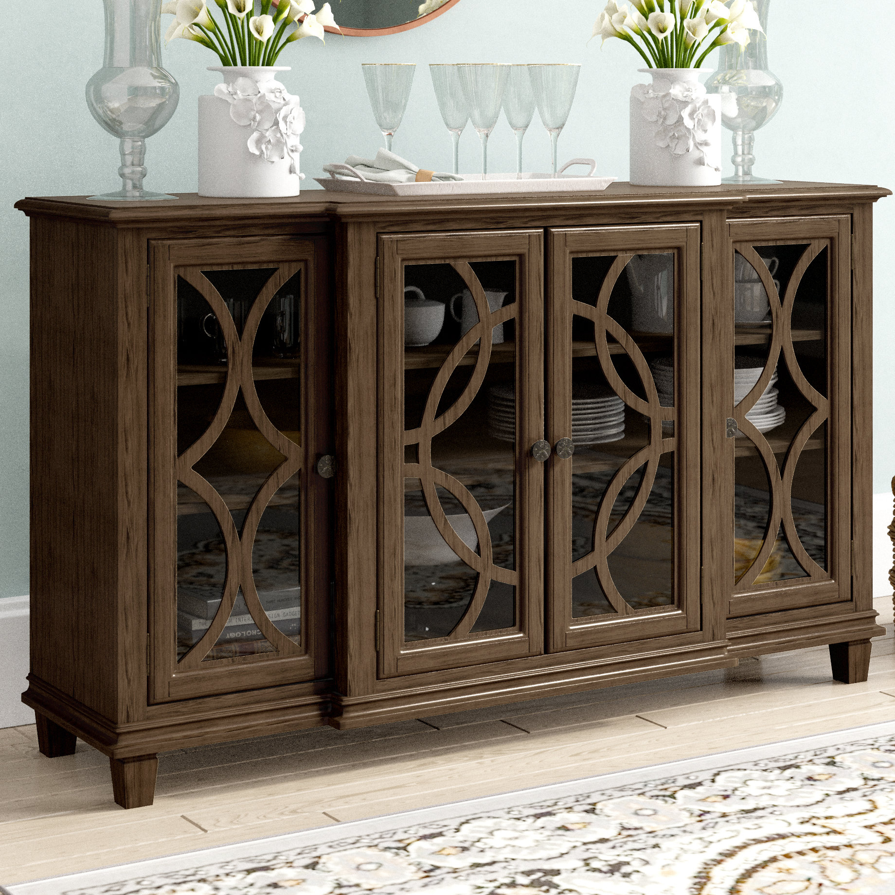 Freemont Sideboard Pertaining To Most Recent Elyza Credenzas (#9 of 20)