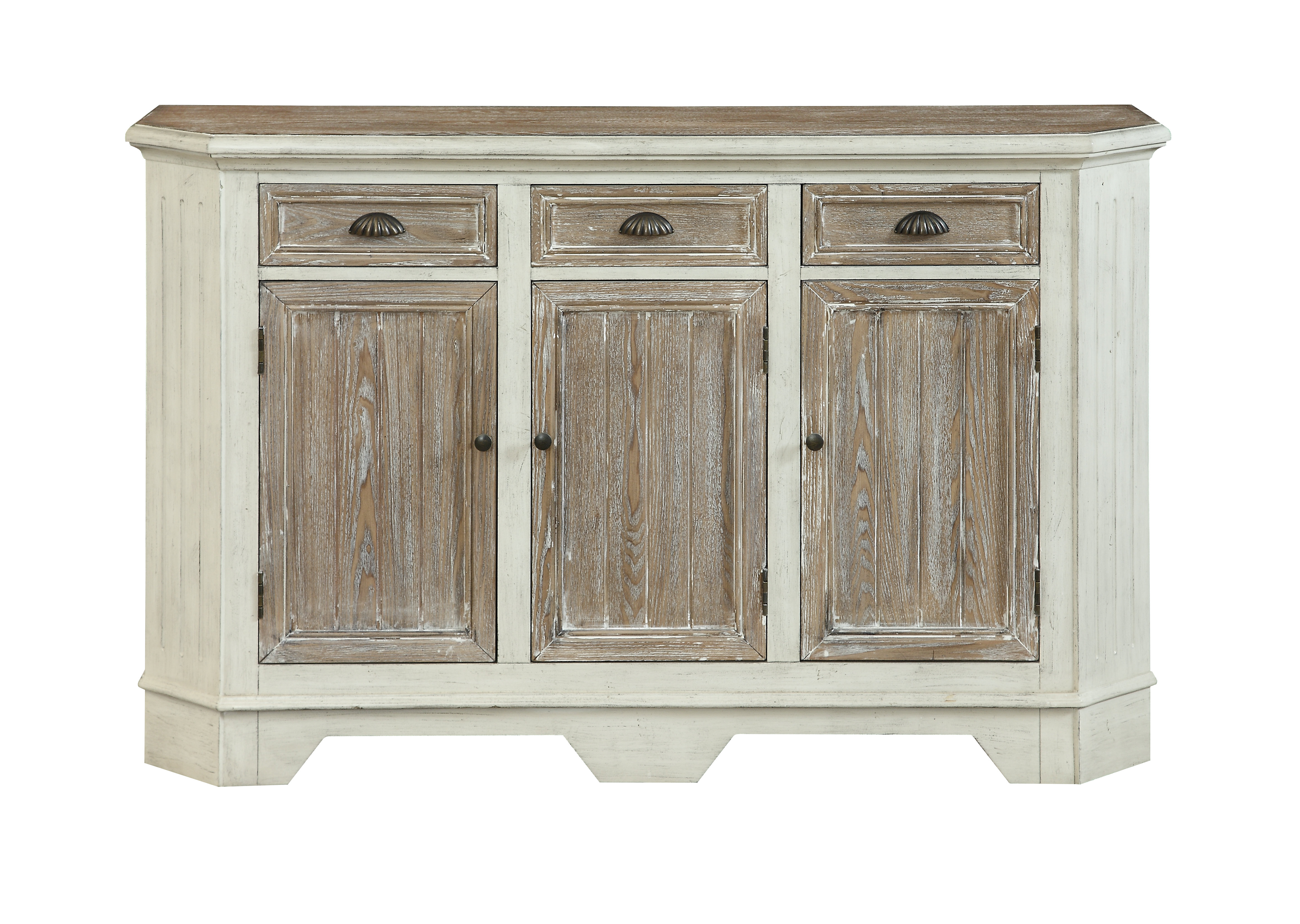 Funkhouser 3 Door 3 Drawer Sideboard With Newest Drummond 3 Drawer Sideboards (#13 of 20)