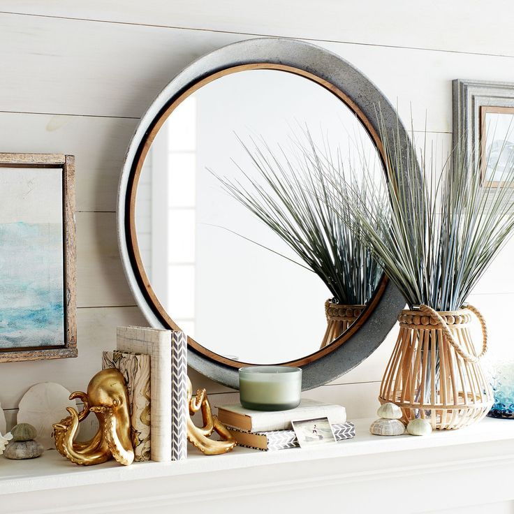 """Inspiration about Galvanized Metal 30"""" Round Mirror 
