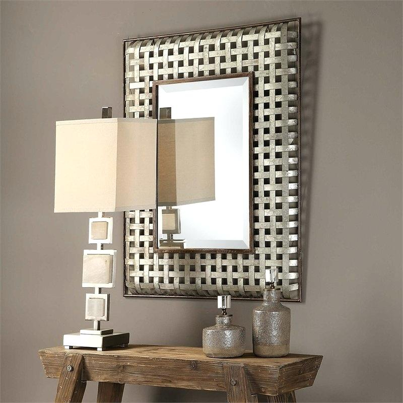 Inspiration about Galvanized Metal Mirror – Starline.club With Rectangle Antique Galvanized Metal Accent Mirrors (#19 of 20)