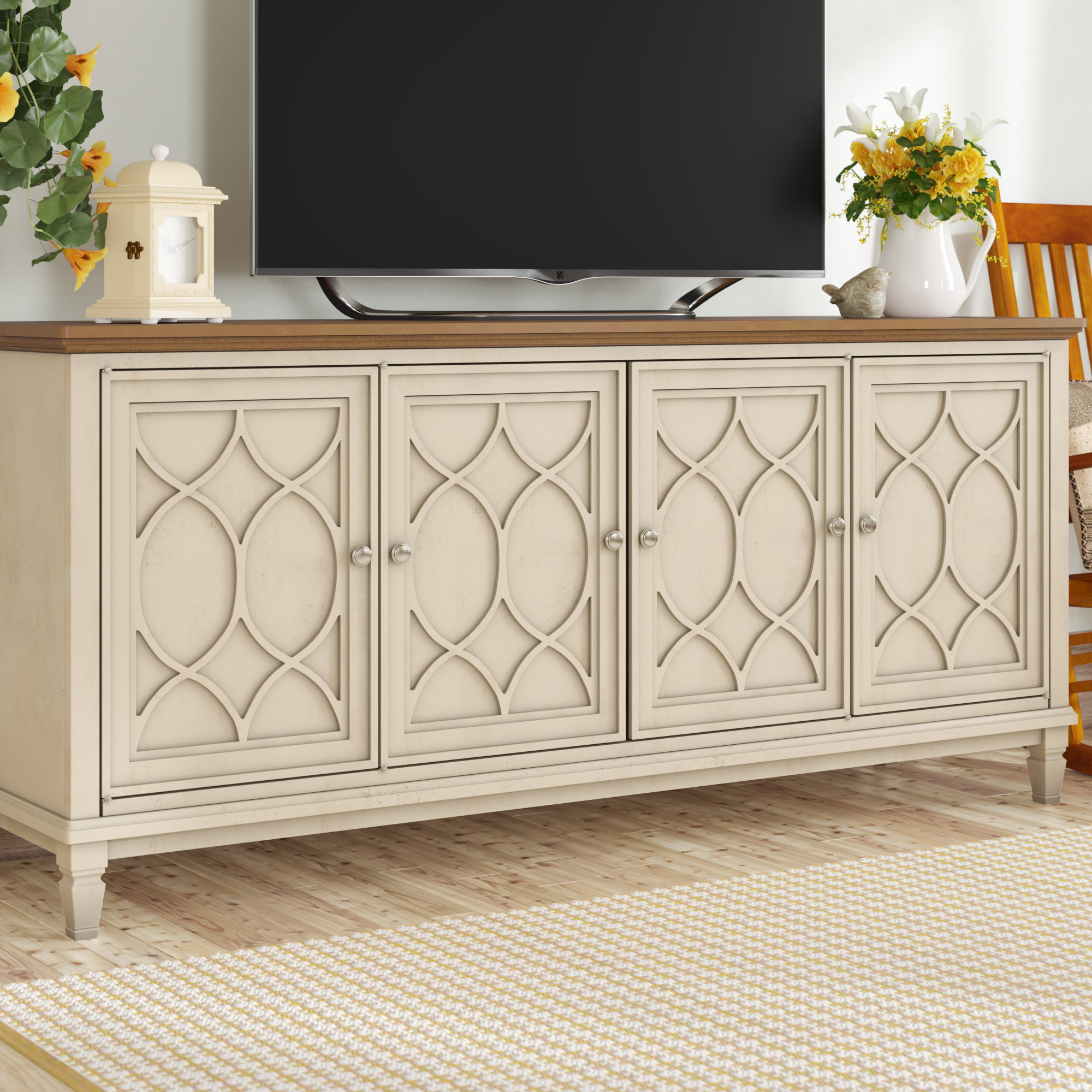 """Gammill Tv Stand For Tvs Up To 75"""" For Most Popular Parmelee Tv Stands For Tvs Up To 65"""" (#8 of 20)"""
