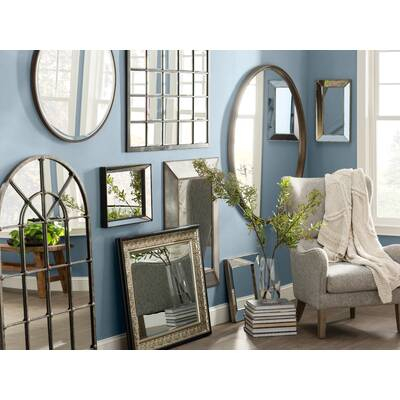 Inspiration about Gatlin Wooden Cabinet Door Accent Mirror | Birch Lane Inside Rectangle Antique Galvanized Metal Accent Mirrors (#14 of 20)