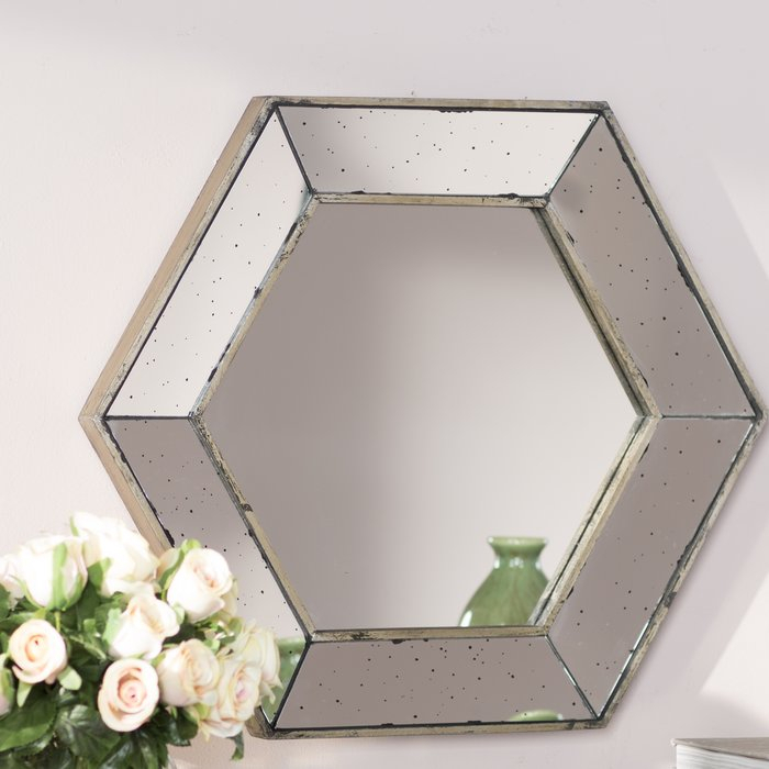 Inspiration about Gia Hexagon Accent Mirror Regarding Gia Hexagon Accent Mirrors (#1 of 20)