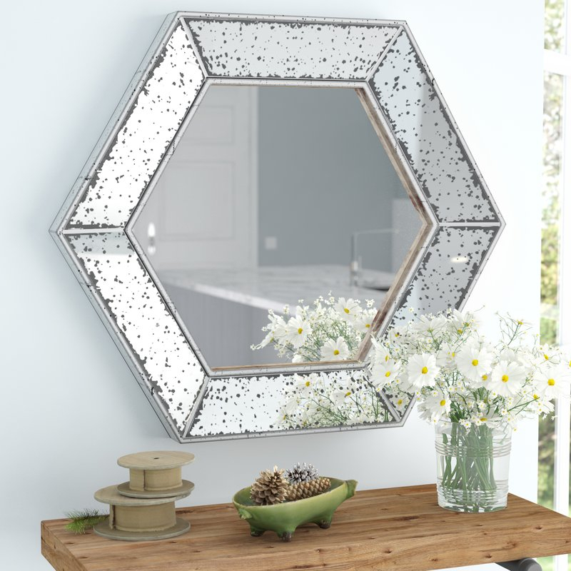 Inspiration about Gia Hexagon Accent Mirror Throughout Gia Hexagon Accent Mirrors (#3 of 20)