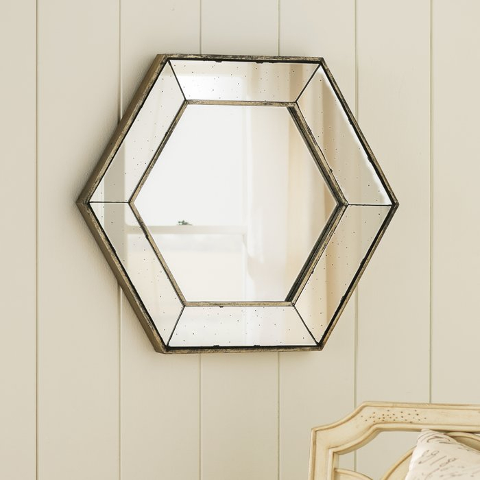Inspiration about Gia Hexagon Accent Mirror With Gia Hexagon Accent Mirrors (#2 of 20)
