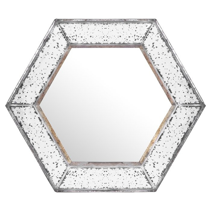 Inspiration about Gia Hexagon Accent Mirror With Regard To Gia Hexagon Accent Mirrors (#5 of 20)