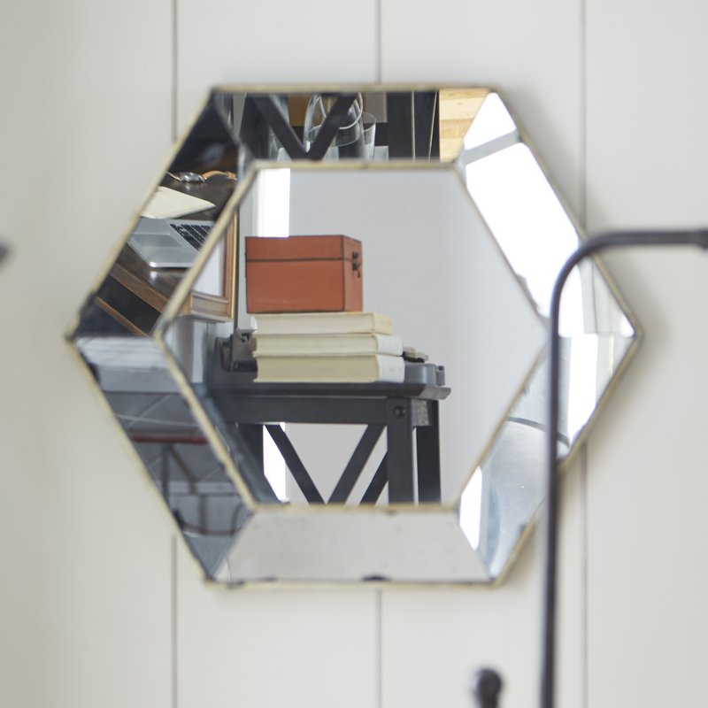 Inspiration about Gia Hexagon Accent Mirror Within Gia Hexagon Accent Mirrors (#8 of 20)
