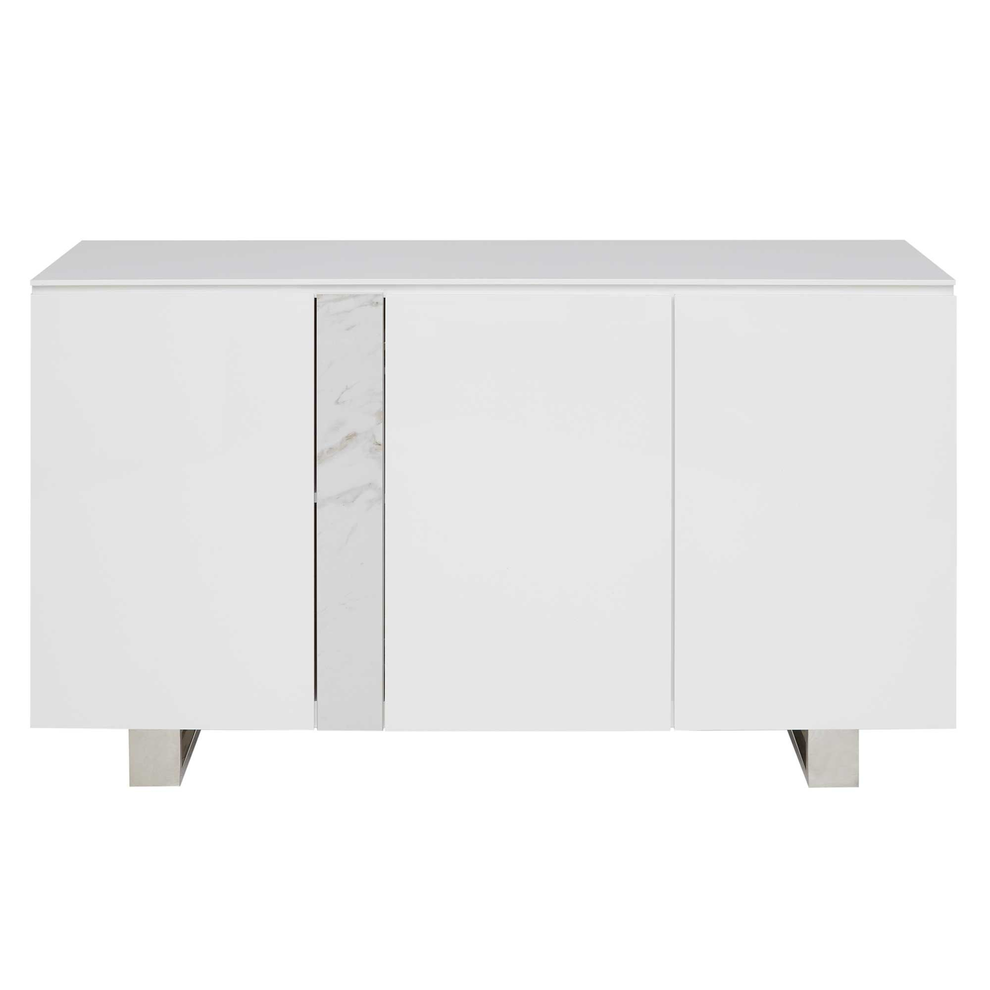 Inspiration about Ginostra 3 Door Sideboard, Gloss White | Sideboards | Dining Pertaining To Latest Thite Sideboards (#1 of 20)