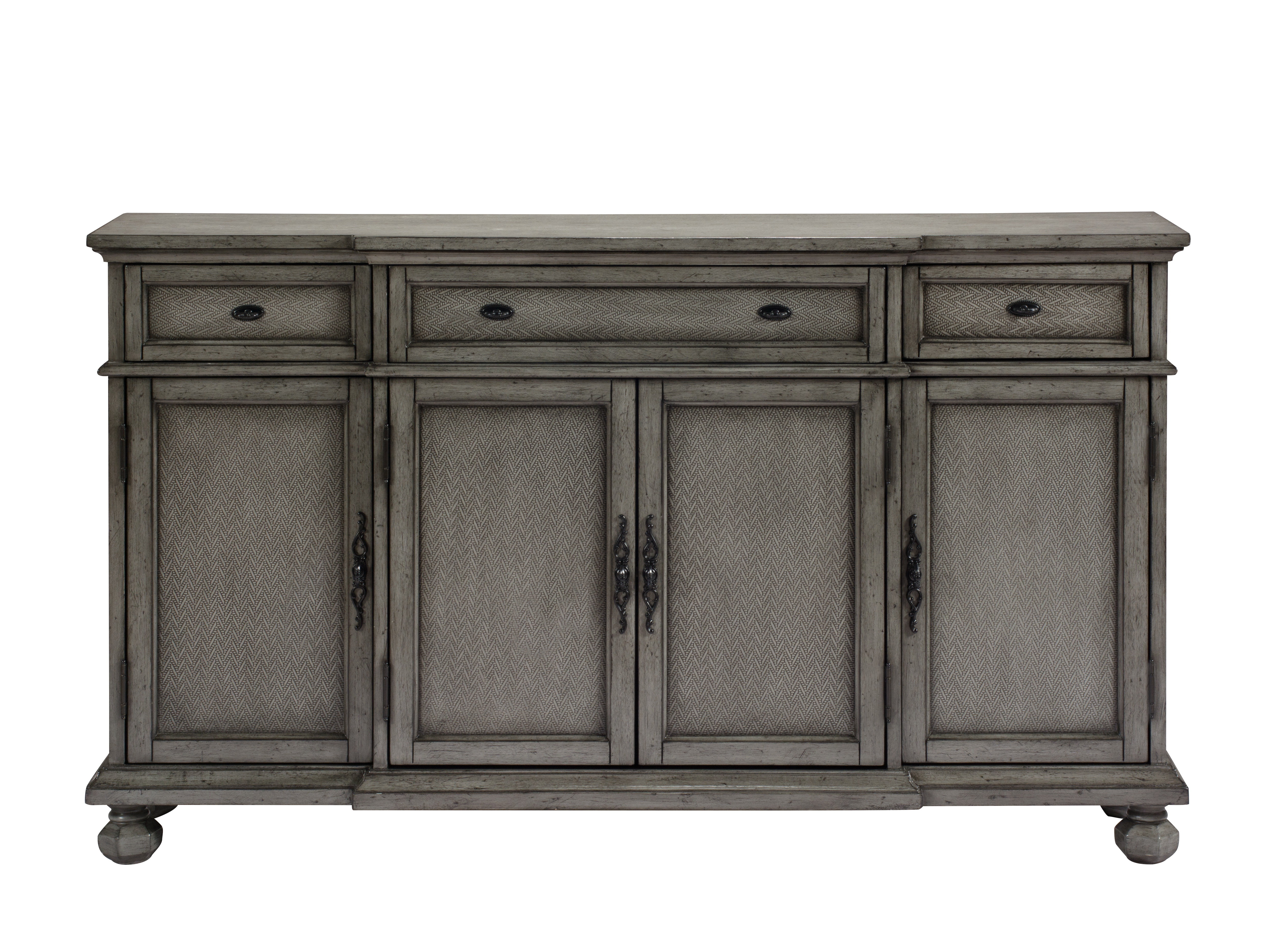 Giulia 3 Drawer Credenza Pertaining To Most Recent Hewlett Sideboards (View 8 of 20)
