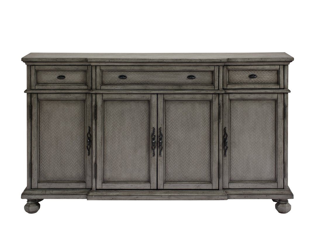 Inspiration about Giulia 3 Drawer Credenza | Saavedra Residence | Sideboard Intended For Newest Senda Credenzas (#8 of 20)