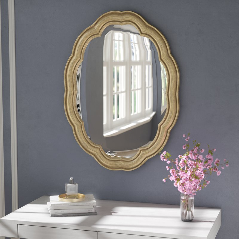 Glam Oval Accent Wall Mirror Regarding Broadmeadow Glam Accent Wall Mirrors (View 9 of 20)