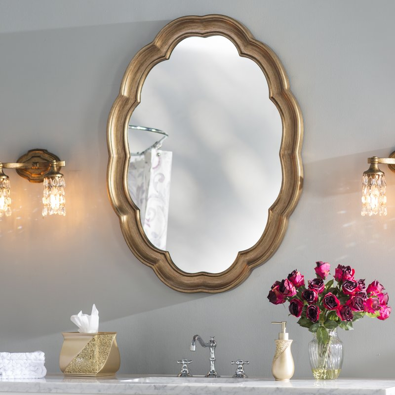 Inspiration about Glam Oval Accent Wall Mirror Throughout Broadmeadow Glam Accent Wall Mirrors (#7 of 20)