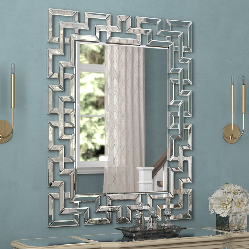 Glam Rectangular Accent Wall Mirror Throughout Rectangle Accent Wall Mirrors (View 14 of 20)