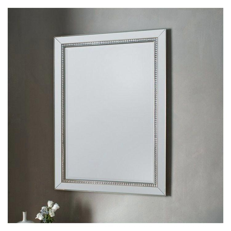 Inspiration about Glass Framed Mirror – Giveandget.co With Caja Rectangle Glass Frame Wall Mirrors (#6 of 20)