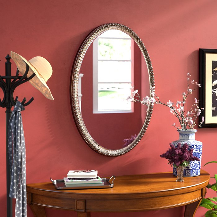 Inspiration about Glen View Beaded Oval Traditional Accent Mirror With Beaded Accent Wall Mirrors (#18 of 20)
