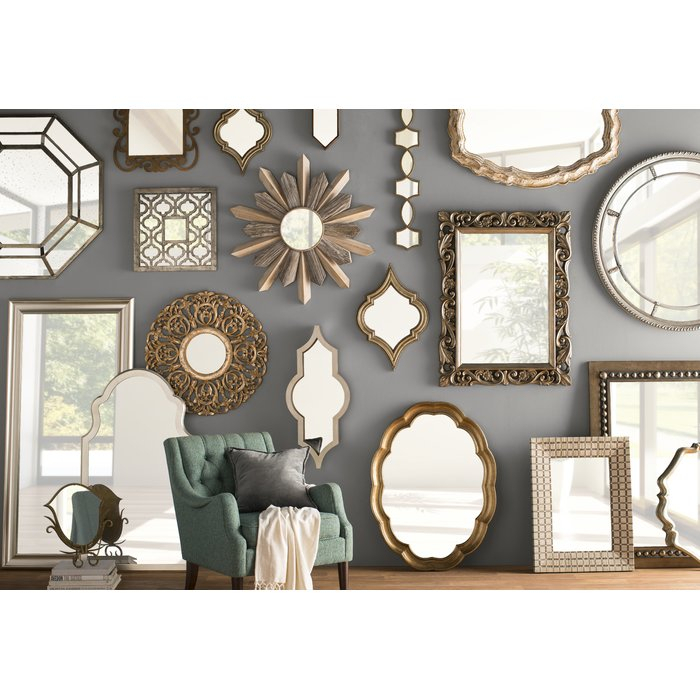 Global Inspired Metal Wall Mirror Pertaining To Boyers Wall Mirrors (#16 of 20)
