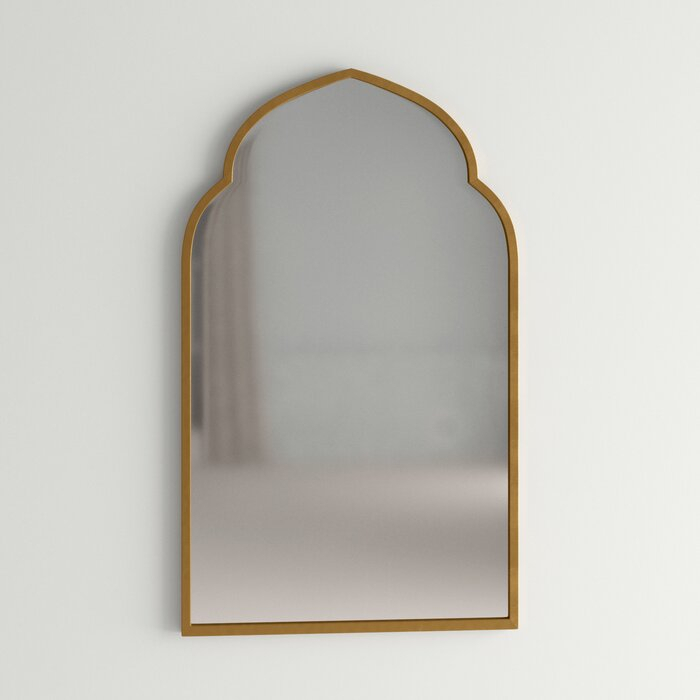 Gold Arch Wall Mirror In Fifi Contemporary Arch Wall Mirrors (#18 of 20)