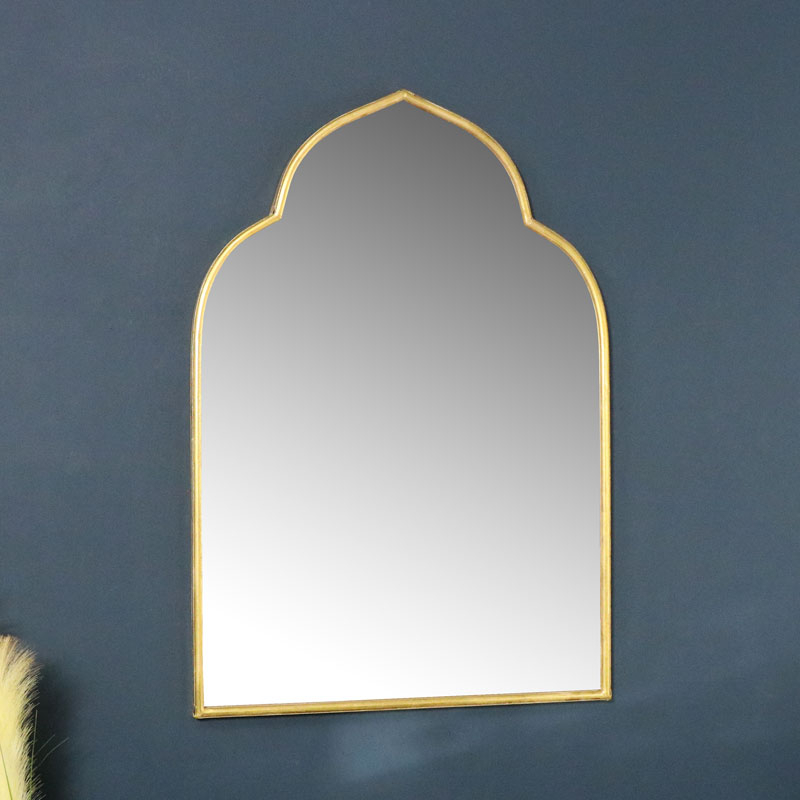 Inspiration about Gold Arched Wall Mirror 60Cm X 88Cm Intended For Gold Arch Wall Mirrors (#4 of 20)