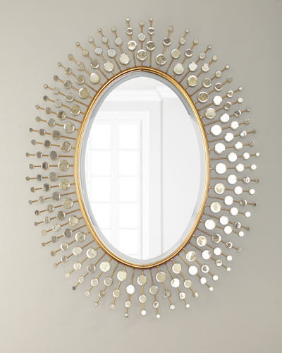 Gold Mirror Decor | Neiman Marcus Within Burnes Oval Traditional Wall Mirrors (#14 of 20)