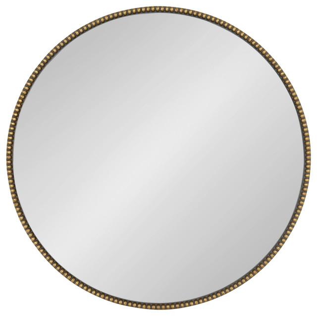 "Inspiration about Gwendolyn Round Beaded Accent Wall Mirror, Gold 23.6"" Diameter Inside Beaded Accent Wall Mirrors (#9 of 20)"