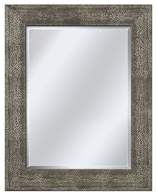 "Hammered Pewter Mirror, 28.5""x (View 5 of 20)"