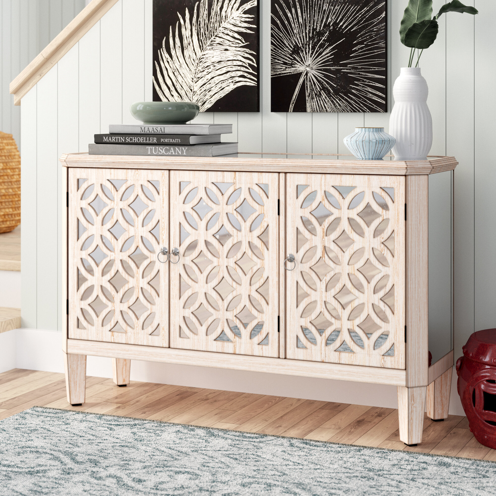 Hand Painted Credenza | Wayfair With Most Current Bremner Credenzas (View 5 of 20)