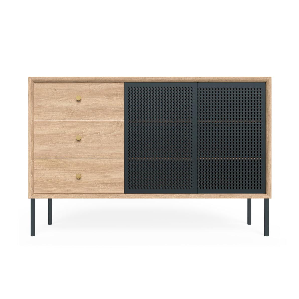 Hartô – Gabin Sideboard Hoch Mit Schubladen, Eiche / Anthrazitgrau (Ral  7016) With Most Up To Date Castelli Sideboards (#8 of 20)
