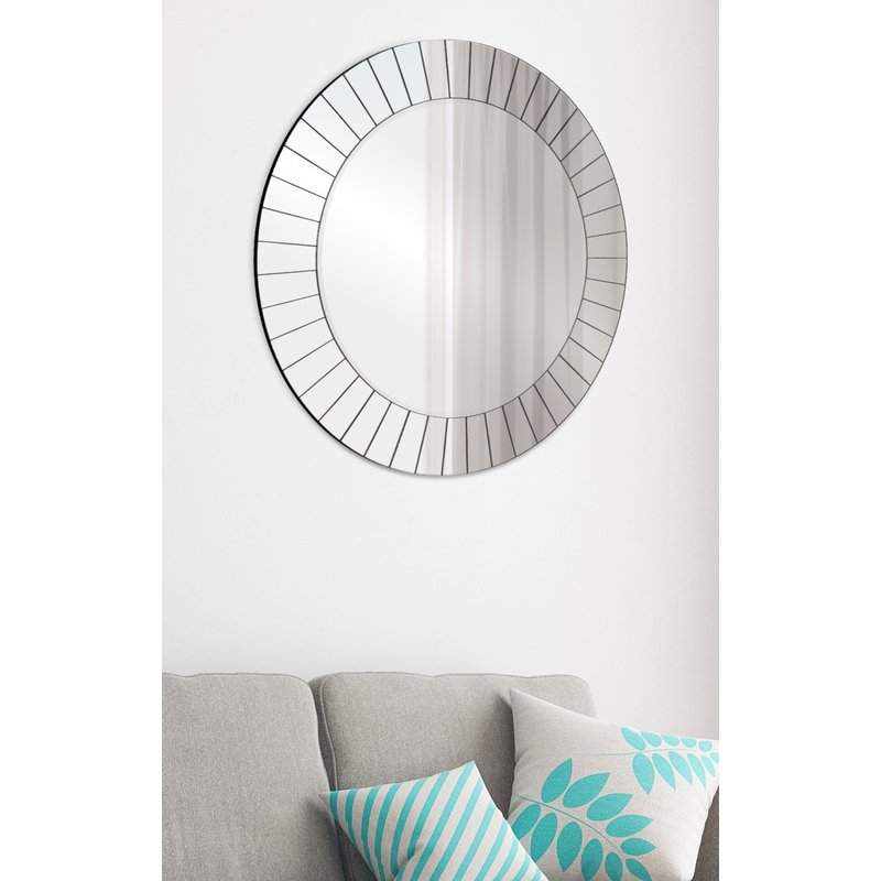 Henriette Frameless Accent Mirror With Regard To Lidya Frameless Beveled Wall Mirrors (#6 of 20)