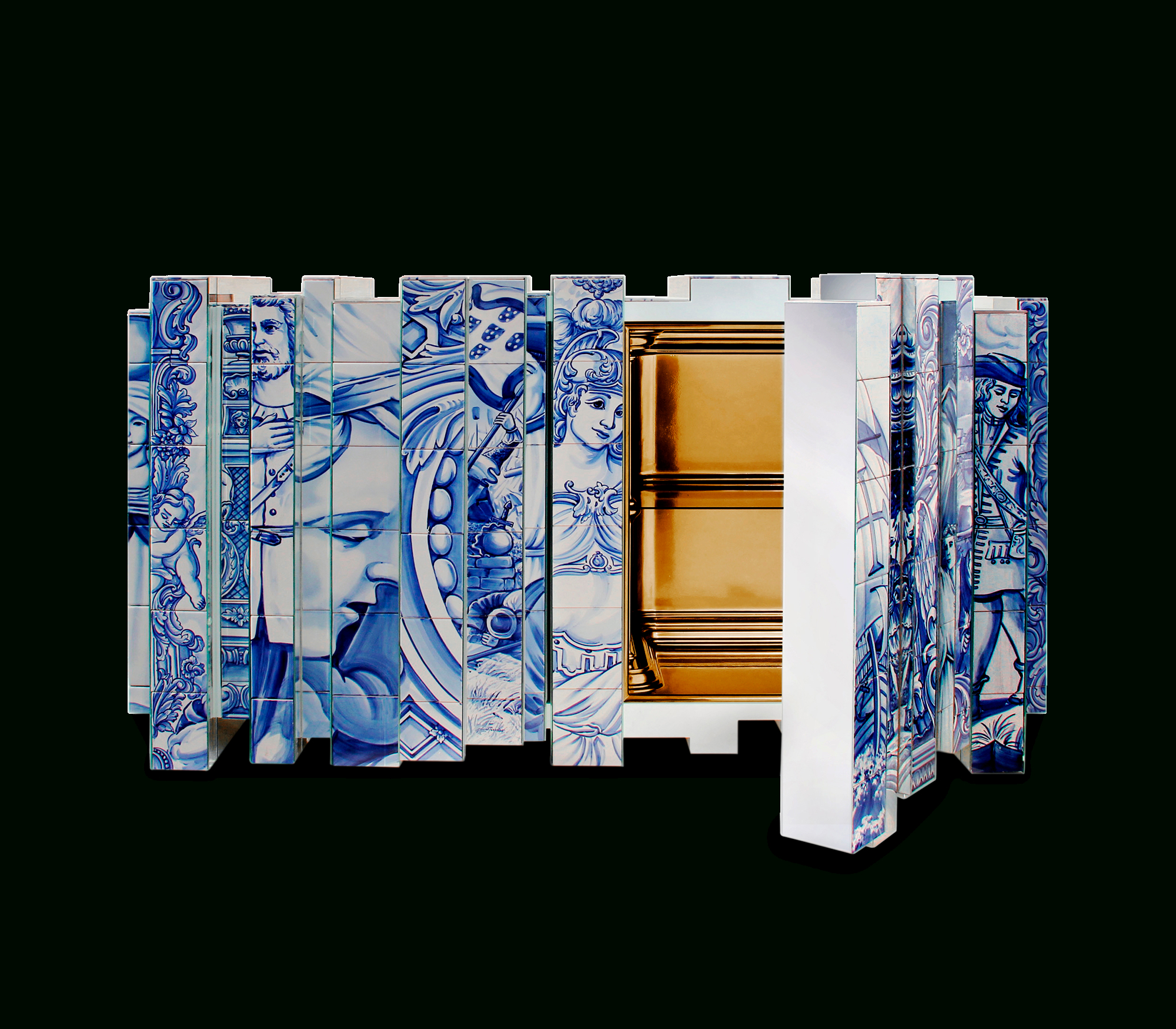 Heritage Blue Sideboard | Boca Do Lobo Exclusive Design Within 2018 South Miami Sideboards (#7 of 20)