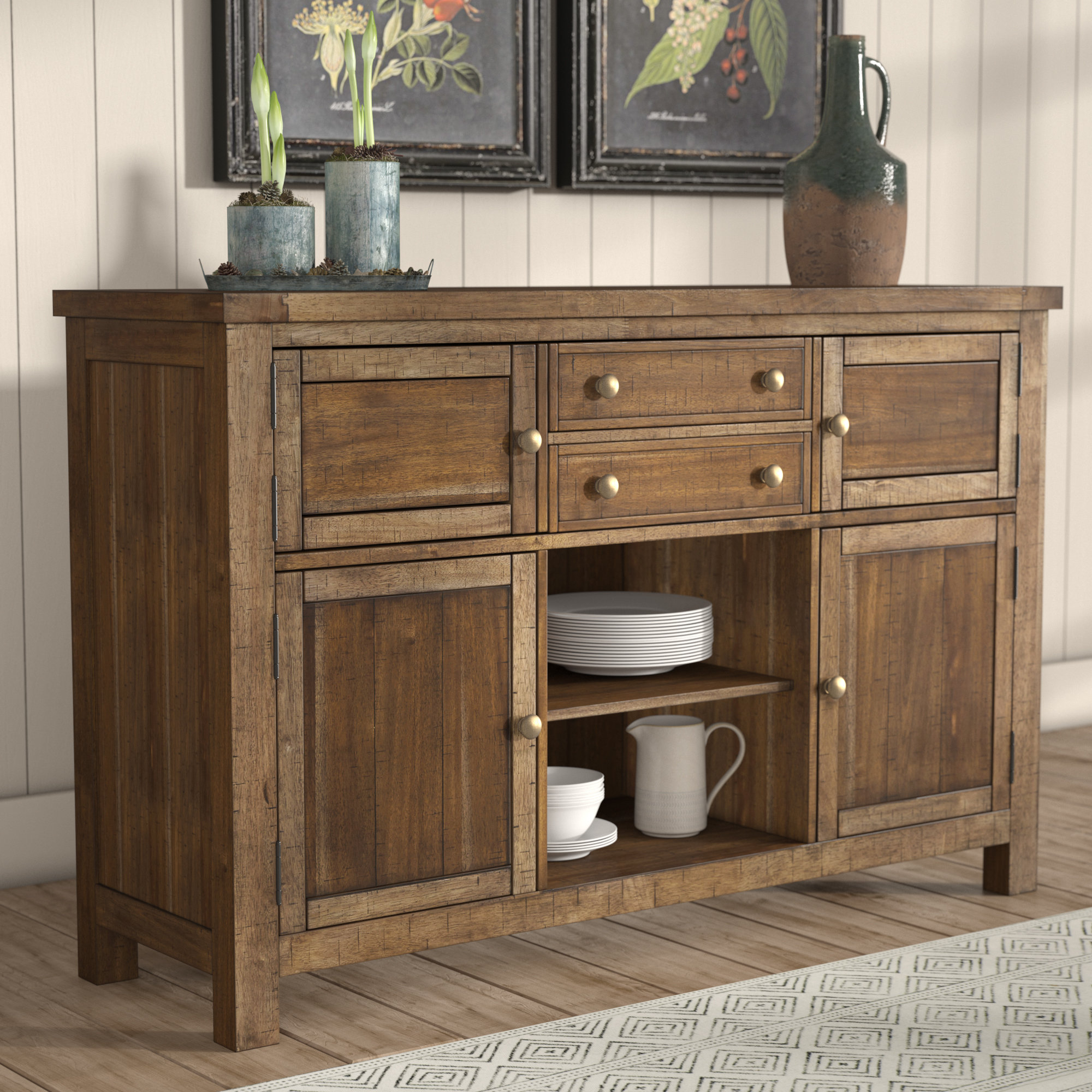 Hillary Dining Room Buffet Table Inside Newest Saint Gratien Sideboards (#6 of 20)