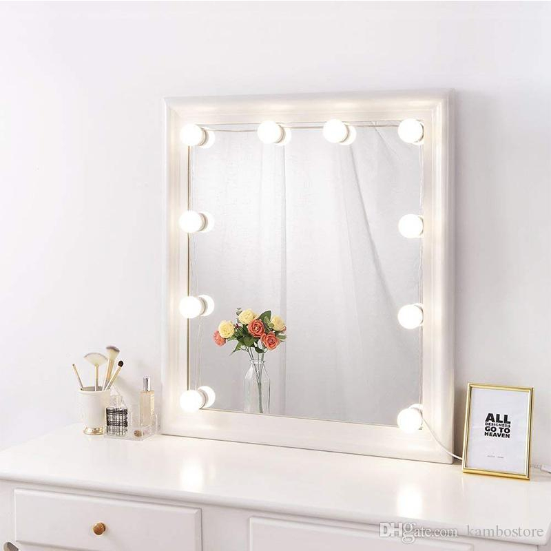 Hollywood Style Led Vanity Mirror Lights Kit For Makeup Dressing Table  Vanity Set Mirrors With Dimmer And Power Supply Plug In Vanity Mirrors (#8 of 20)