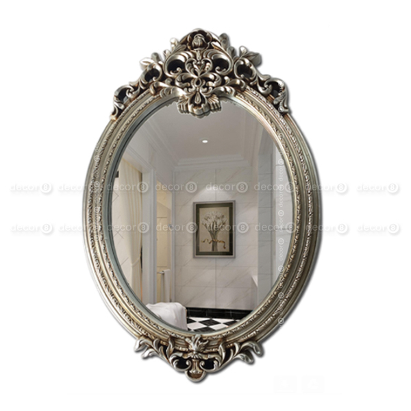 Hong Kong Accent Mirrors You'll Love | Decor8 | Hk Mirrors & Wall Decor |  Summerson Ornamental Classical Frame Accent Mirror – Antique Silver For Silver Frame Accent Mirrors (#10 of 20)