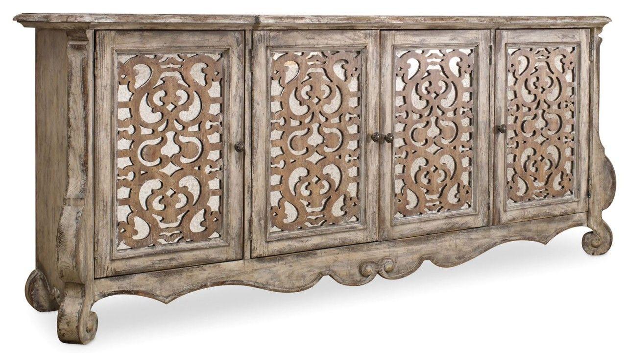 Hooker Furniture Chatelet 4 Door Credenza 5351 85001 Inside 2018 Steinhatchee Reclaimed Pine 4 Door Sideboards (#13 of 20)