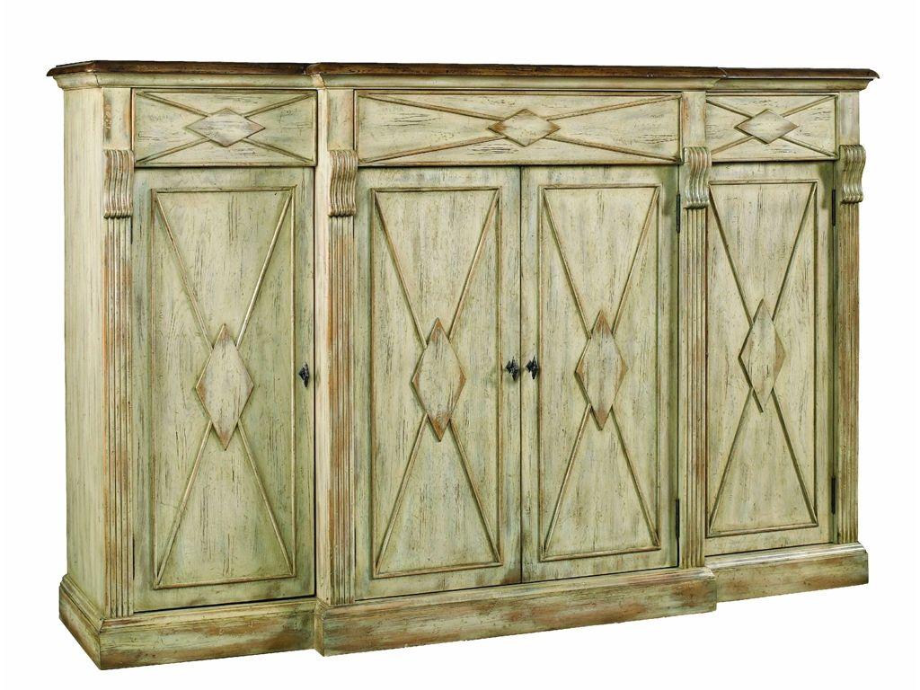 Hooker Furniture Living Room Sanctuary 4 Door 3 Drawer Pertaining To 2017 Senda Credenzas (#14 of 20)