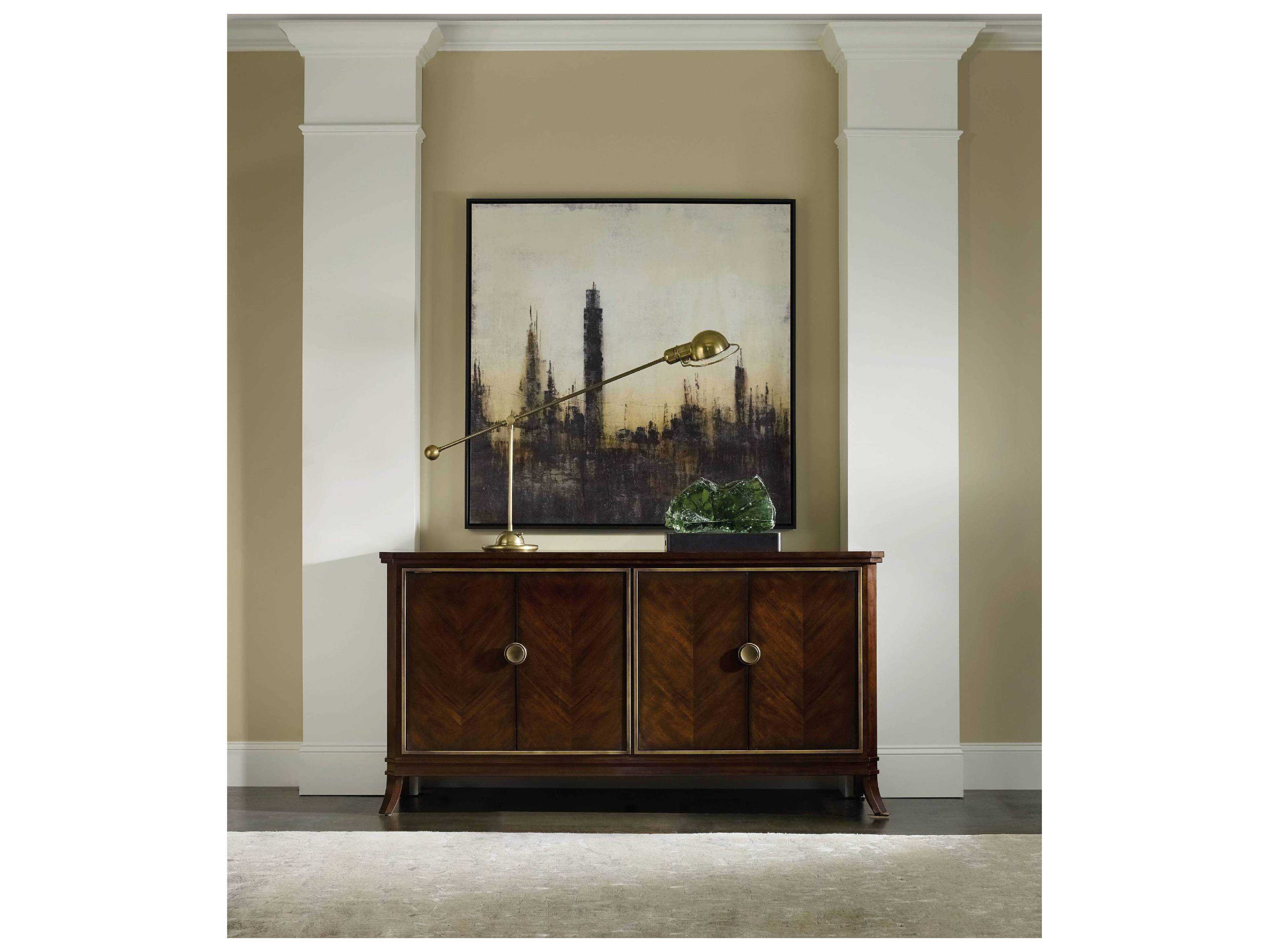 Hooker Furniture Palisade Dark Wood 68''lx 18''w Buffet Inside Recent Palisade Sideboards (View 6 of 20)